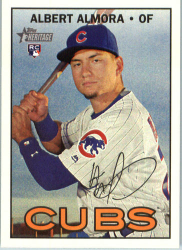Photo of 2016 Topps Heritage #635A Albert Almora -- Chicago Cubs rookie card