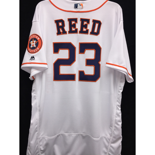 Photo of Team-Issued 2016 A.J. Reed Home White Jersey