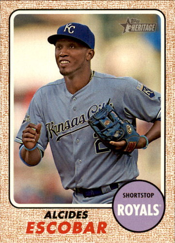 Photo of 2017 Topps Heritage #284 Alcides Escobar