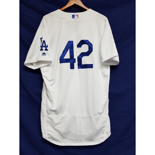 "Photo of Julio Urias Team-Issued ""42"" Jersey"