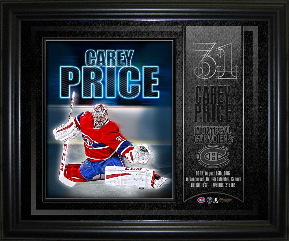 Carey Price - Framed 10x13