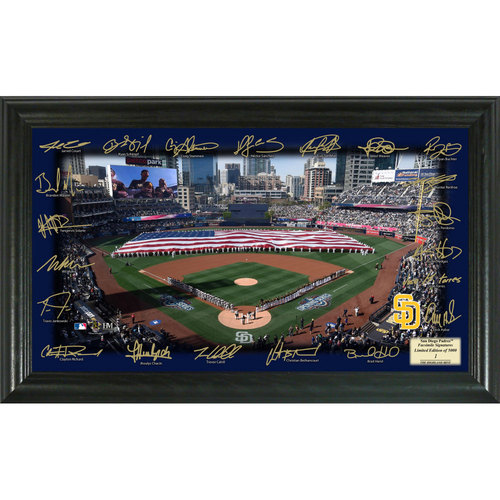 Serial #1! San Diego Padres 2017 Signature Field