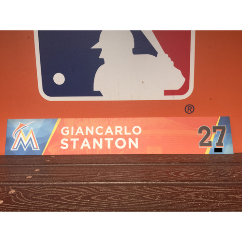 Photo of Giancarlo Stanton Locker Tag