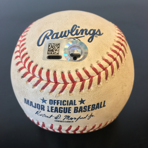 Photo of Game-Used Baseball: Nori Aoki Double