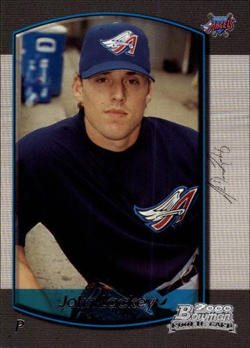 Photo of 2000 Bowman Draft #80 John Lackey Rookie Card Cubs post-season