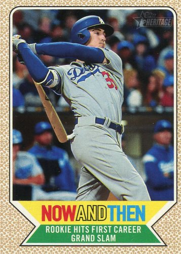 Photo of 2017 Topps Heritage Now and Then #NT14 Cody Bellinger -- post-season bound
