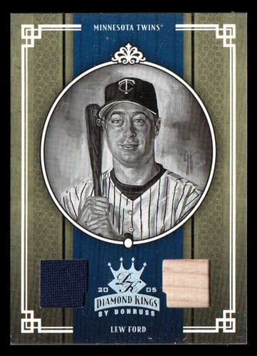 Photo of 2005 Diamond Kings Materials Silver B/W #132 Lew Ford Bat-Jsy/100