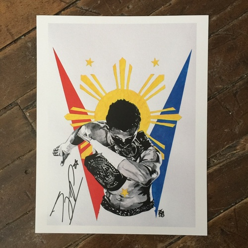 Photo of TJ Perkins SIGNED 11 x 14 Rob Schamberger Print