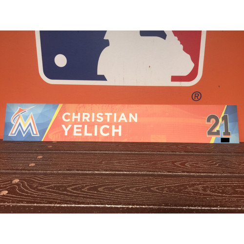 Photo of Christian Yelich Locker Tag