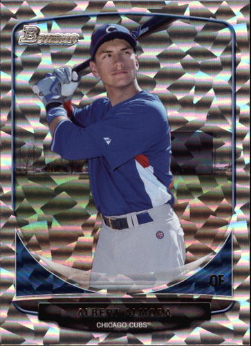 Photo of 2013 Bowman Draft Top Prospects Silver Ice #TP4 Albert Almora Cubs post-season