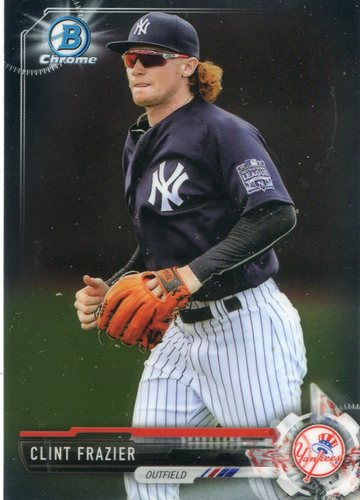 Photo of 2017 Bowman Chrome Prospects #BCP16 Clint Frazier -- Yankees post-season