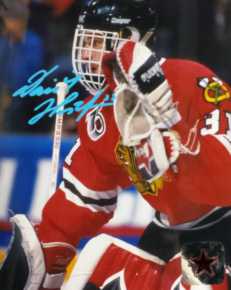 Dominik Hasek Chicago Blackhawks autographed 8x10