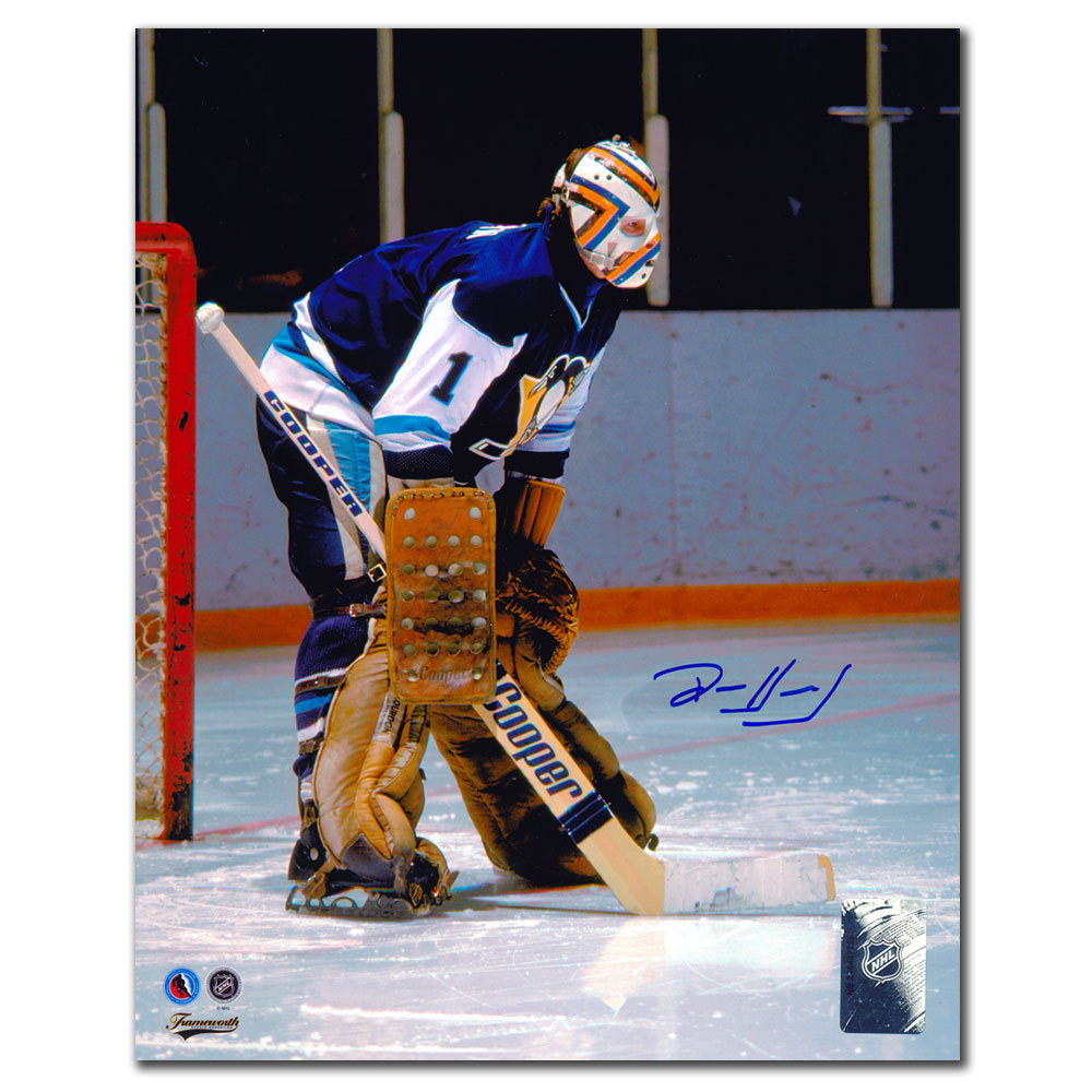 Denis Herron Pittsburgh Penguins Autographed 8x10