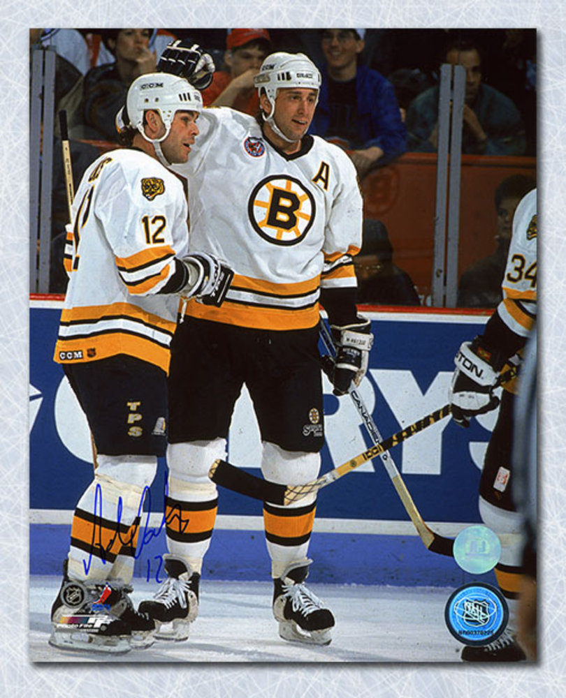 Adam Oates Boston Bruins Autographed On Ice with Neely 8x10 Photo