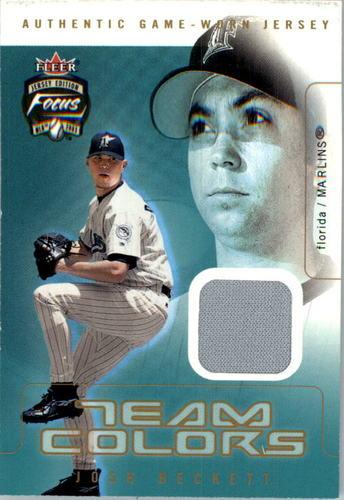 Photo of 2003 Fleer Focus JE Team Colors Game Jersey #JBE Josh Beckett