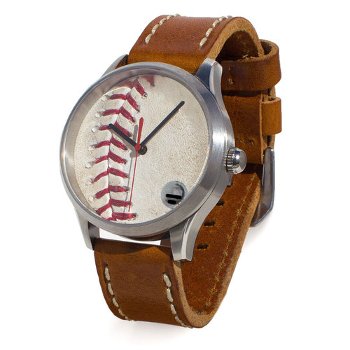 Photo of Tokens & Icons Los Angeles Dodgers Game-Used Baseball Watch