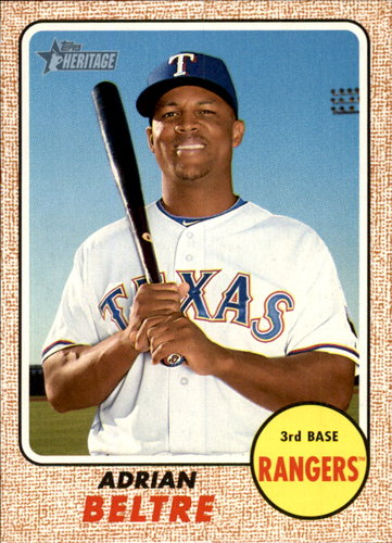 Photo of 2017 Topps Heritage #287A Adrian Beltre
