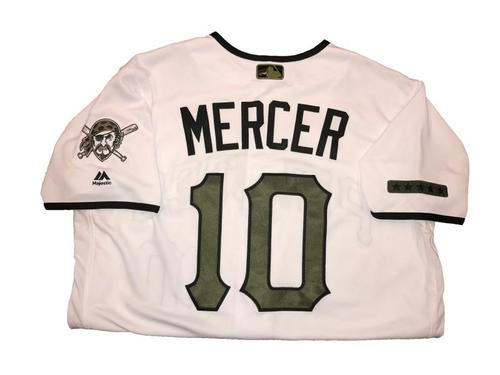 Photo of Jordy Mercer Game-Used Memorial Day Weekend Jersey