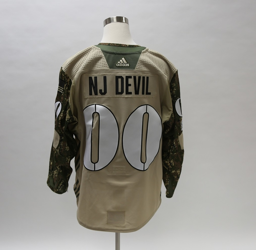 NJ Devil Military Appreciation Camo Warm-Up Autographed Jersey - New Jersey Devils