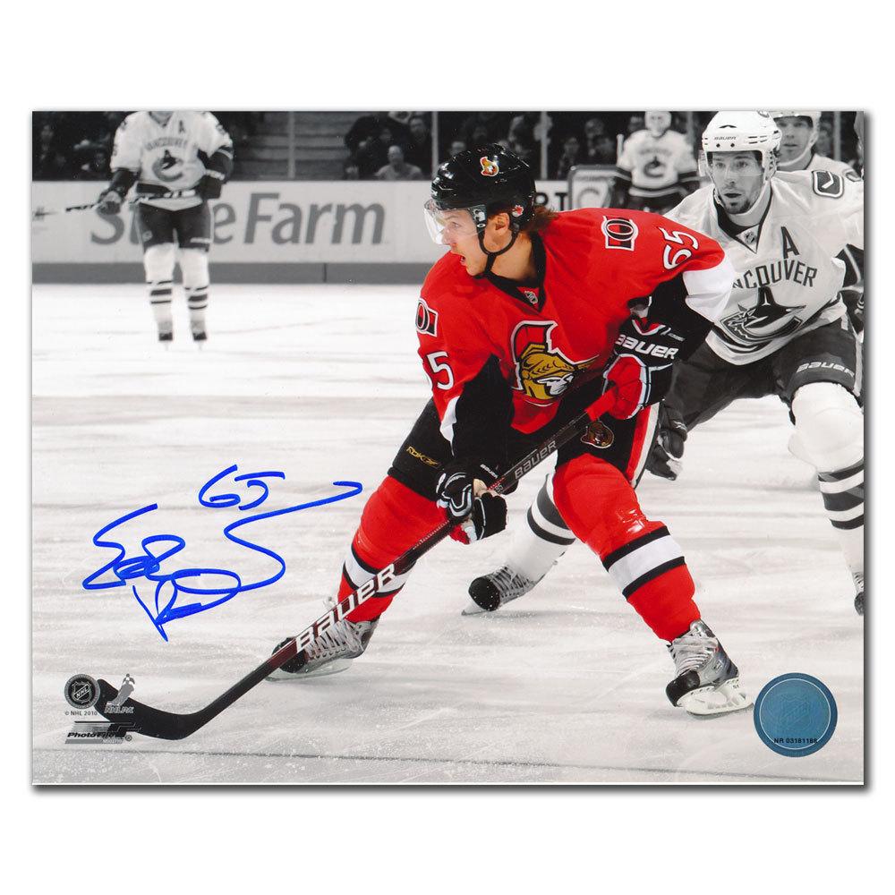Erik Karlsson Ottawa Senators SPOTLIGHT vs. Vancouver Autographed 8x10