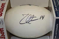 PATRIOTS - ZOLTAN MESKO SIGNED PANEL BALL W/ CHARITABLE FOUNDATION LOGO