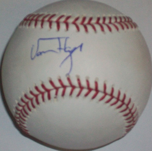 Photo of Von Hayes Autographed Baseball