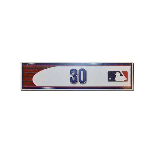 Photo of Michael Conforto #30 - Game Used Locker Nameplate - Mets Clinch Playoff Berth - Mets vs. Phillies - 10/1/16