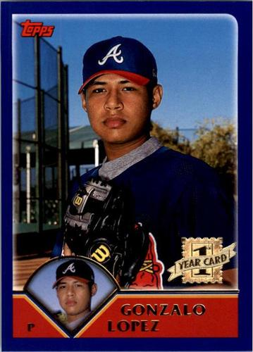 Photo of 2003 Topps #302 Gonzalo Lopez FY RC