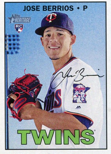 Photo of 2016 Topps Heritage #709 Jose Berrios -- Minnesota Twins rookie card Short Print