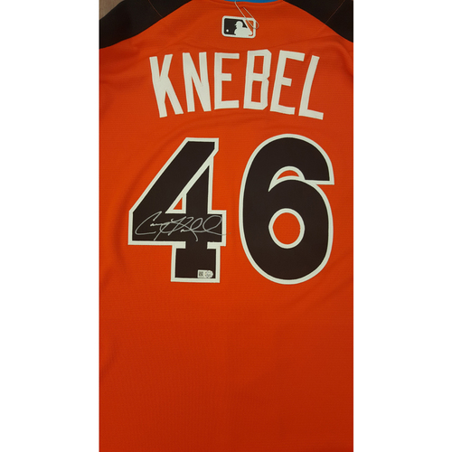 Photo of Corey Knebel 2017 Major League Baseball Workout Day/Home Run Derby Autographed Jersey