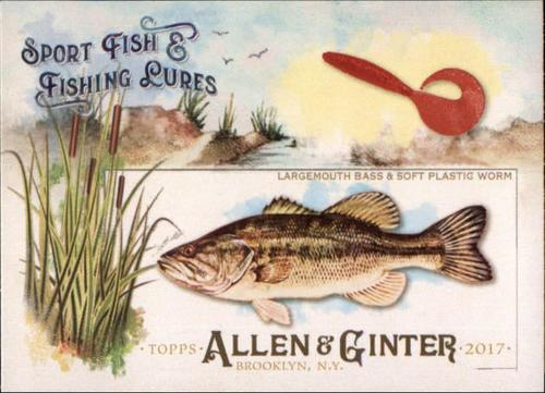 Photo of 2017 Topps Allen and Ginter Sport Fish and Fishing Lures #SFL6 Largemouth Bass