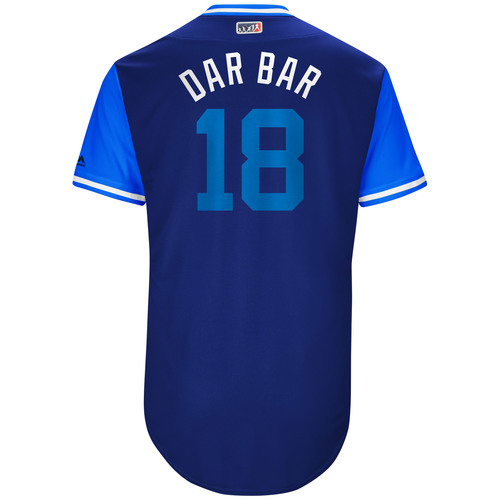 "Photo of Darwin ""Dar Bar"" Barney Toronto Blue Jays Game-Used Players Weekend Jersey"