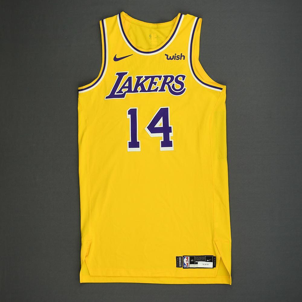 Brandon Ingram - Los Angeles Lakers - Kia NBA Tip-Off 2018 - Game-Worn Icon Edition Jersey
