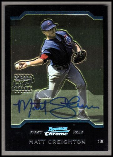 Photo of 2004 Bowman Chrome #340 Matt Creighton AU RC Autographed Rookie Card