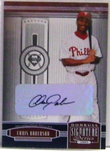 Photo of 2005 Donruss Signature Autograph Silver #100 Chris Roberson T4