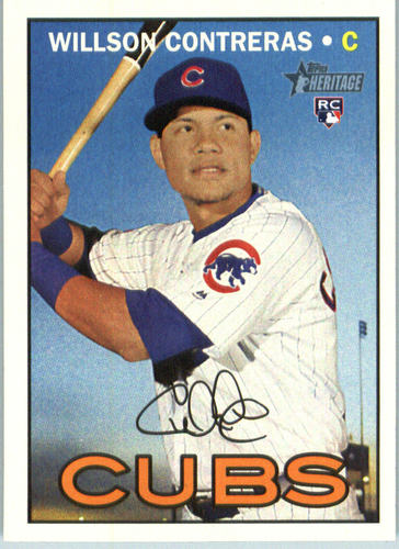 Photo of 2016 Topps Heritage #505 Willson Contreras -- Chicago Cubs rookie card