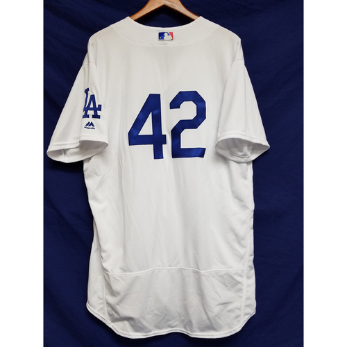 "Photo of Rick Honeycutt Team-Issued ""42"" Jersey"