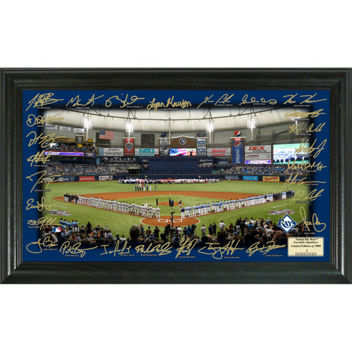 Serial #1! Tampa Bay Rays 2017 Signature Field