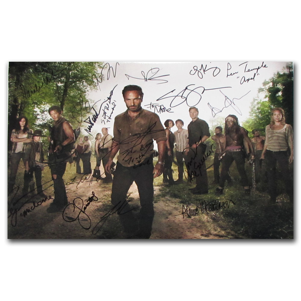 Walking Dead Autographed Cast-Signed Framed Poster - NHL Auctions