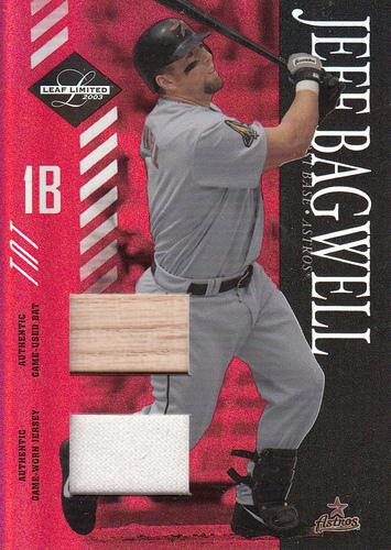 Photo of 2003 Leaf Limited TNT #146 Jeff Bagwell A Bat-Jsy
