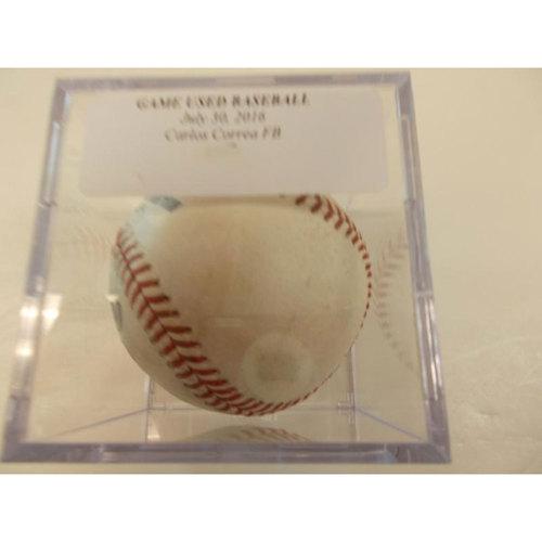 Photo of Game-Used Baseball Carlos Correa Foul Ball
