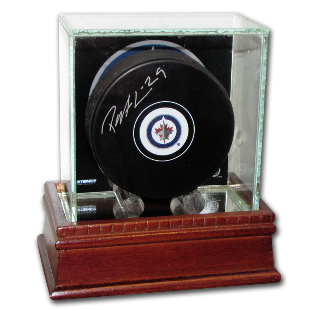 Patrik Laine Autographed Winnipeg Jets Puck w/Display Case