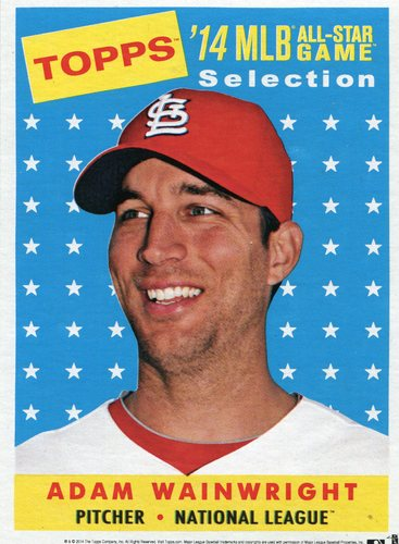 Photo of 2014 Topps 5x7 All-Star Selection Adam Wainwright -- Part of exclusive Minneapolis FanFest set