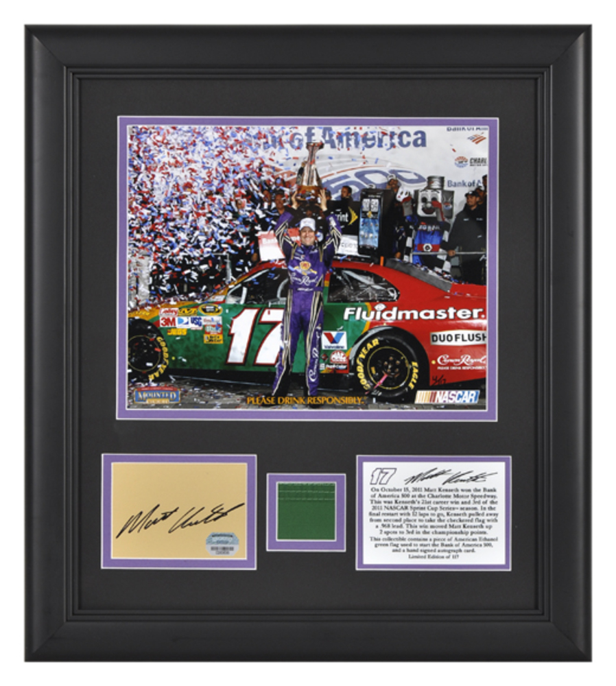 Matt Kenseth 11 Bank of America 500 Victory @ Charlotte Motor Speedway Framed 8