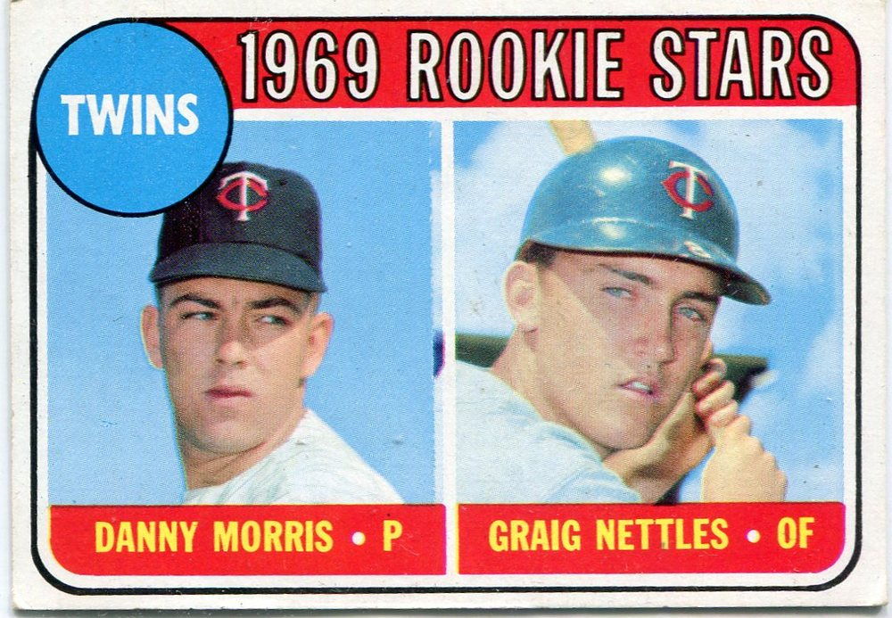 1969 Topps #99A Rookie Stars/Danny Morris RC/Graig Nettles Rookie Card