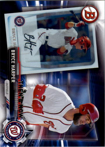 Photo of 2017 Topps Bowman Then and Now #BOWMAN6 Bryce Harper