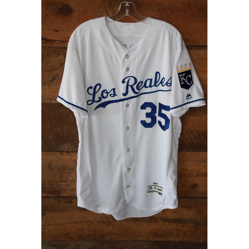 Photo of Game-Used Jersey: Eric Hosmer (6/24/17 - TOR at KC - Size 46 - Home Run)