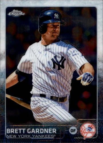 Photo of 2015 Topps Chrome #88 Brett Gardner -- Yankees post-season