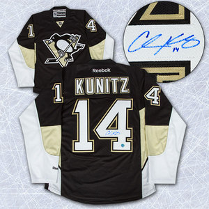 Chris Kunitz Pittsburgh Penguins Autographed Reebok Premier Jersey