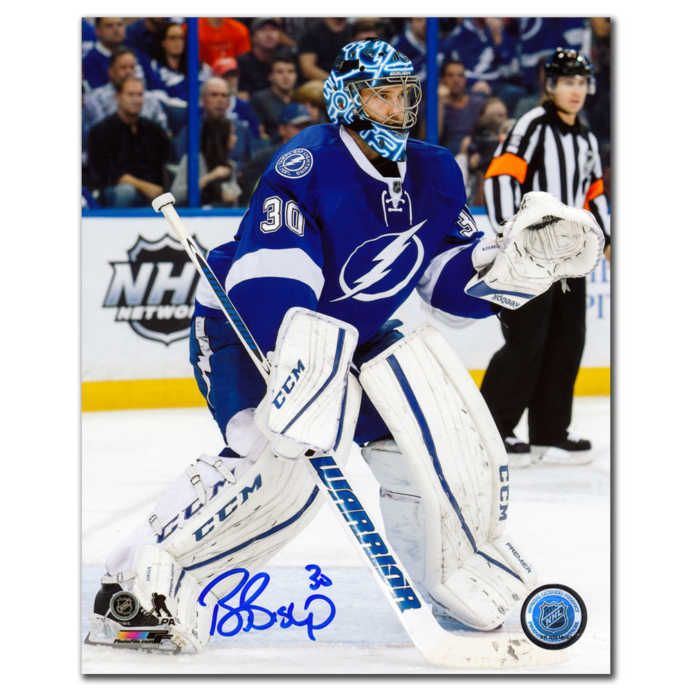 Ben Bishop Tampa Bay Lightning ACTION Autographed 8x10
